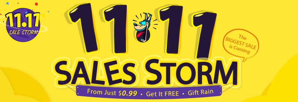 【GearBest】9日17時より11.11セールの本セールを開催!