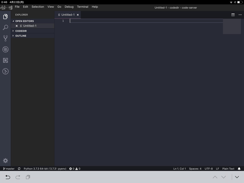 ブラウザ上でVScodeが使えるcode-serverを試してみる